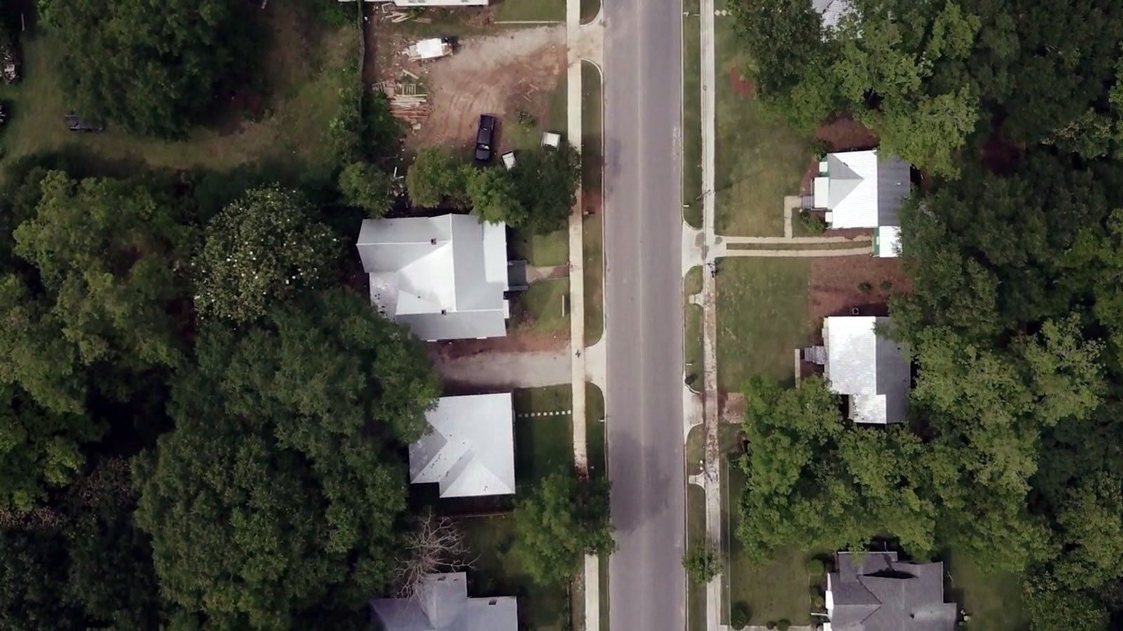 aerial shot of Alabama homes
