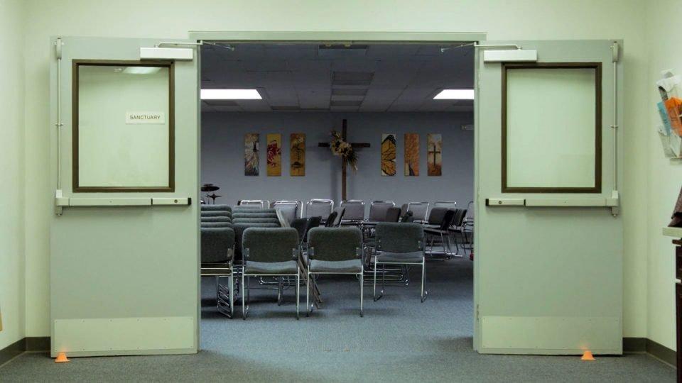doorway to church sanctuary