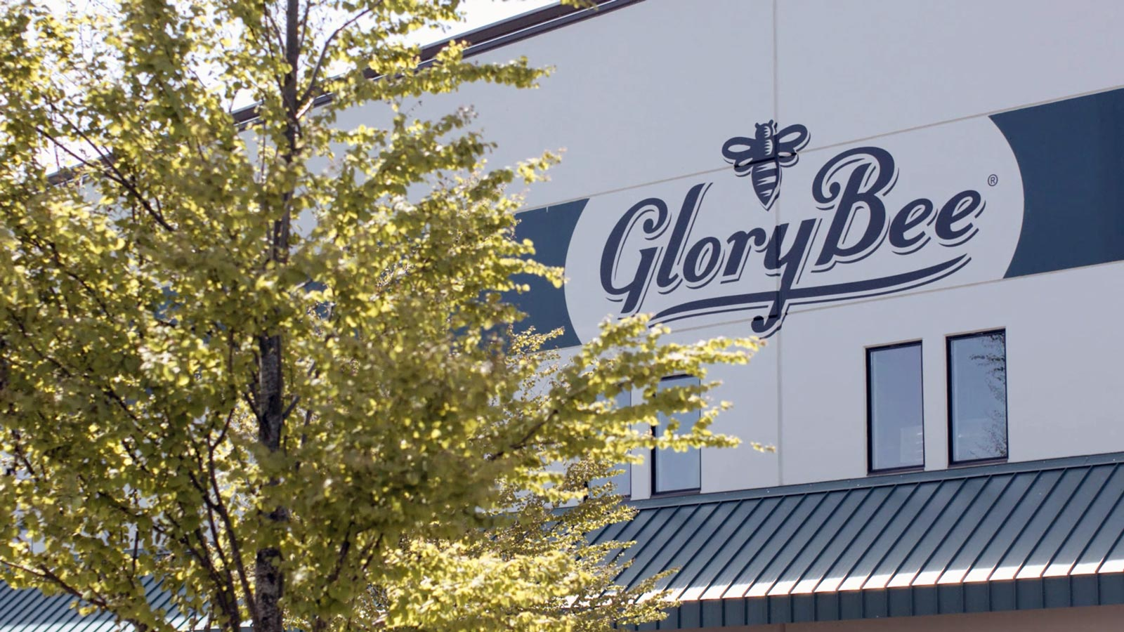 GloryBee sign on building